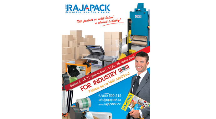 Rajapack na veletrhu For Industry 2013