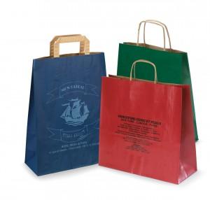 Papírové tašky s firemním potiskem